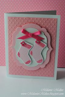 Melanie Makes: Baby Girl Shower Gift & Card  Made with Stampin Up's Stocking Builder Punch