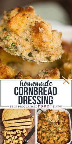 Cornbread Dressing, Made With Homemade Cornbread, Is One Of The Best Thanksgiving Side Dishes You Can Make Pure Old Fashioned Soul Food. This Recipe Started With Some Homemade Cornbread And Has All Of Your Favorite Savory Stuffing Ingredients Mixed In. Traditional Thanksgiving Recipes, Best Thanksgiving Side Dishes, Thanksgiving Appetizers, Thanksgiving Dressing, Italian Thanksgiving, Thanksgiving 2020, Homemade Cornbread Dressing, Soul Food Cornbread Dressing, Old Fashion Cornbread Dressing Recipe