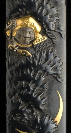 Japanese Kozuka (the hilt of a small sword) by Natsuo KANO (1828-1898) 加納夏雄
