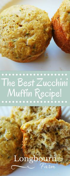 These are the best zucchini bread muffins! These zucchini bread muffins are light and airy, not dense and greasy. This recipe will turn out every time you make it! Zucchini Muffins, Best Zucchini Bread, Zucchini Muffin Recipes, Healthy Zucchini, Recipe Zucchini, Köstliche Desserts, Delicious Desserts, Yummy Food, Galette