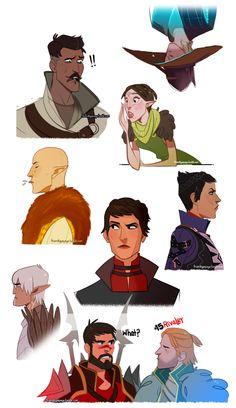 Коул,DA персонажи,Dragon Age,фэндомы,Дориан павус,Кассандра Пентагаст,DAI,Мерриль,Солас,Фенрис,Андерс,Хоук,DA2