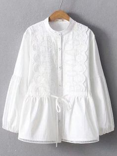 US$41.58 - Elegant Women Embroidery Long Sleeve Blouses