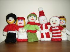 Free Christmas Finger Puppets Knitting Pattern