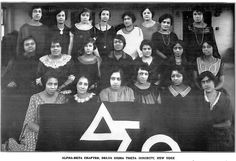 Delta Sigma Theta Sorority, Inc. - Alpha Beta Chapter - December, 1923 (source: www.flickr.com/...)