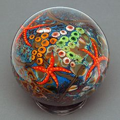 Cathy Richardson.You won't want to part with this little glass coral reef once you hold it in your hands.