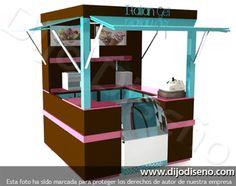 Puntos de venta, kioskos, burbujas - dijo diseño Food Stall Design, Food Cart Design, Small Coffee Shop, Coffee Shop Design, Kiosk Design, Booth Design, Cofee Shop, Mini Cafe, Happy Tea