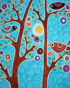 birds in trees by karlagerard on flickr