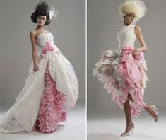 DRESSES MADE OF TOILET PAPER!!!