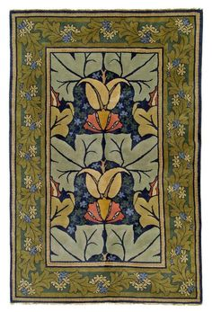 Reproduction of a rug by Charles Voysey Voysey was an English architect and designer who was influenced by William Morris and the Arts & Crafts movement Craftsman Rugs, Craftsman Style, Craftsman Homes, Arts And Crafts Furniture, Arts And Crafts House, Arts And Crafts Movement, Art And Craft Design, Design Crafts, William Morris