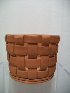 Handmade Terra Cotta Planter, Clay Pot Basket Weave Design, Home and Garden,  Home Decorating, on Etsy, $12.00