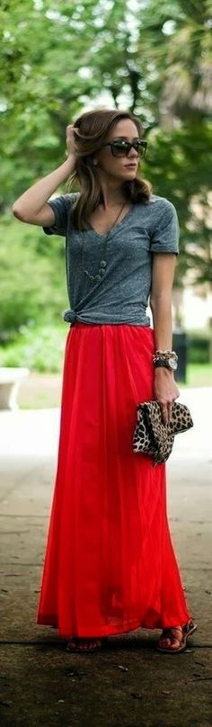 Create this look by tying a tee over a maxi dress!