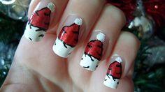 Santa Hat Nails For Christmas Nail Art Tutorial