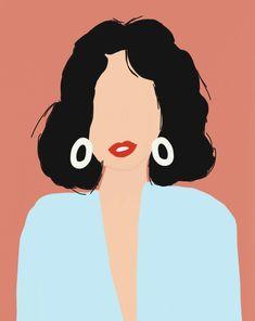 @elineverhees Art And Illustration, Portrait Illustration, Illustrations And Posters, Georges Braque, Vector Portrait, Art Inspo, Collage Art, Vector Art, Banners