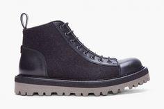 yves saint laurent black flannel boys boots. www.ysl.com