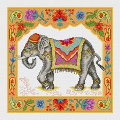 Check out this item in my Etsy shop https://www.etsy.com/listing/230585712/indian-elephant-cross-stitch-pdf-pattern