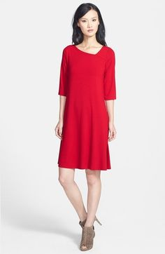 Free shipping and returns on Eileen Fisher Asymmetrical Neck Jersey Dress at Nordstrom.com. Effortless flattery. An angled, collarbone-baring neckline adds pretty asymmetry to a supple jersey dress styled to lightly skim the figure before flaring to an A-line finish.