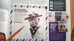 My Lord Baden Powell drawing ended up in the scouting magazine