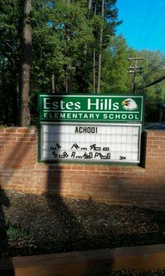 Funny sign...Achoo!
