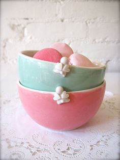Desert bowls.