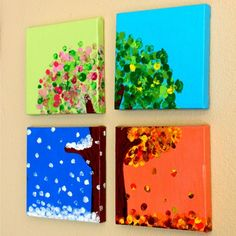 Making this four season hand and fingerprint tree is a fun way to learn about the changing seasons while making a beautiful keepsake gift.