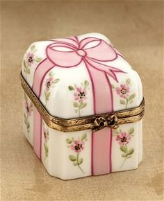 Limoges Pink Flowers Gift Box The Cottage Shop