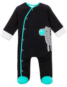 ea53659871f49 Offspring Infant boy Zebra Footie  henryandlola Boy Outfits