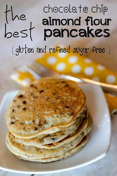 Nicole Tichio Photography: Chocolate Chip Almond Flour Pancakes | Gluten Free | Refined Sugar Free