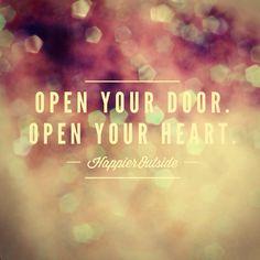 Open your door, open your heart #happieroutside