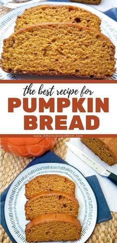 You'll love this easy pumpkin quick bread. Warm cinnamon Pavlova, Pumpkin Recipes, Fall Recipes, Delicious Recipes, Easy Snacks, Quick Easy Meals, Mousse, Cheesecake Oreo, Caramel