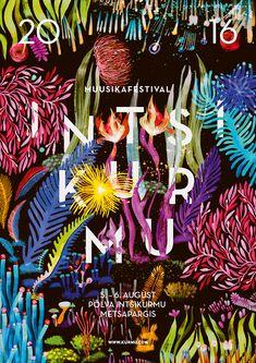 Intsikurmu music festival 2016 illustration on Pantone Canvas Gallery