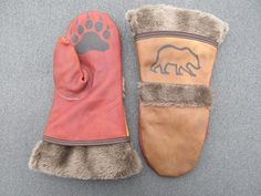 DIY leather mittens