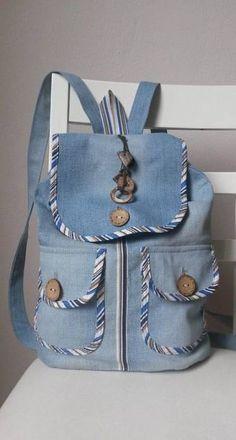 Diy bags 578149670894948376 - Best sewing bags backpack handbags Ideas Source by Denim Backpack, Denim Purse, Backpack Bags, Mochila Jeans, Diy Bags Purses, Denim Handbags, Denim Crafts, Recycled Denim, Patchwork Bags