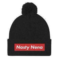 Nasty Nena Pom Pom Knit Beanie
