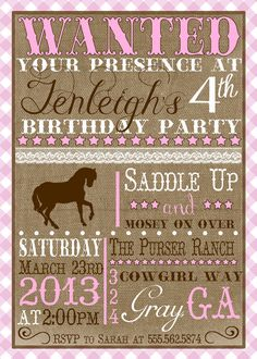 Vintage Pony A Customizable Birthday by ImpressionsPaperie