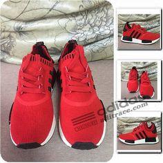 baa2afa11 Adidas NMD R1 Primeknit Meilleur Chaussure Enfant Rouge Noir  aditrace Adidas  Nmd Kids