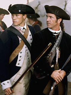 Heath Ledger and Mel Gibson (The Patriot). This movie, and a book called The Drums of Autumn, are to blame for my abiding fascination with the 18th century.