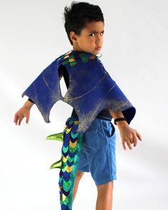 Blue and Green Dragon Children's Costume Running Wear, Green Dragon, Costumes, Disney Princess, Trending Outfits, Handmade Gifts, How To Wear, Blue, Etsy