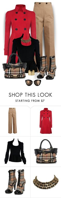 """""""Plaid matching Bag & Shoes"""" by seahag2903 ❤ liked on Polyvore featuring Jil Sander, Tom Ford, Burberry, Chanel and Blue Nile"""