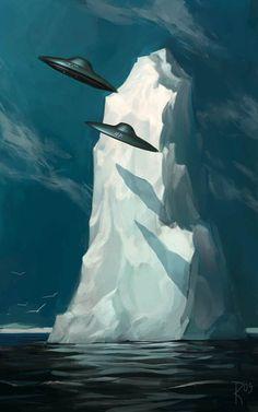 The Fantasy and Science Fiction Themed Illustrations of Waldemar Kazak Ancient Aliens, Aliens And Ufos, Atlantis, Science Fiction Kunst, Gravure Illustration, Image Digital, Templer, Bild Tattoos, Mystique