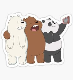 We Bare Bears Sticker Stickers Cool, Tumblr Stickers, Phone Stickers, Printable Stickers, Bear Wallpaper, Cute Wallpaper Backgrounds, Cute Wallpapers, We Bare Bears Wallpapers, Homemade Stickers