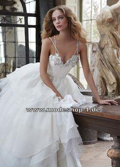 Spaghettiträger Hochzeitskleid für die Braut