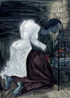 Illustrations by Joe Morse from The Folio Society edition of Toni Morrison's Beloved. Sethe praying with Beloved Dress arms around her Beloved Toni Morrison, Ap Literature, Black Authors, Les Continents, Delta Blues, Morrisons, Black Art, My Books, The Past
