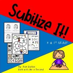 This unit offers you 7 games or activities and 3 worksheets for practicing subitizing in small groups, in centers, independently, or with partners. The numbers deal with subitizing 3-7 or 7-10. Designed for kindergarten and first grade students. #Subitizing, #Numeracy, #Numbers, #NumberRecognition