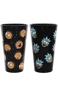 Rick and Morty Exclusive Pint Glass Set - Rick and Morty Heads Best Price