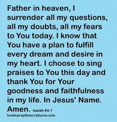 How To Pray Isaiah 54-1