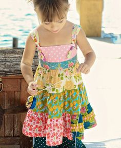 M119 Tiered Knot Dress  - $54-56  Sizes 12m, 18m, 2, 4, 6, 8 ~ Good Hart
