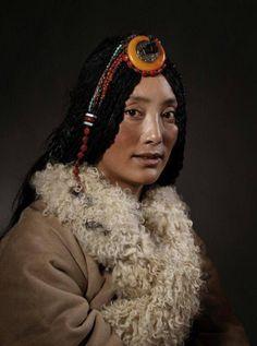 portrait of Tibetan woman. amazing features
