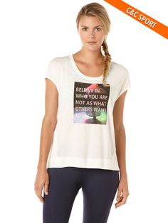 exceed believe wedge tee, Bright White/Neon Lime Aide, hi-res