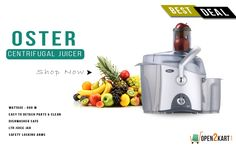 Make your work easy in kitchen with new Oster centrifugal Juicer with multiple features.Get it on best deal on Open2kart. Shop online on http://open2kart.com/