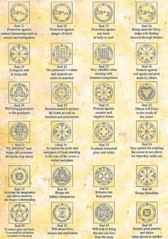 Sigils & Symbols: King Solomon #Seals [21 - 44].